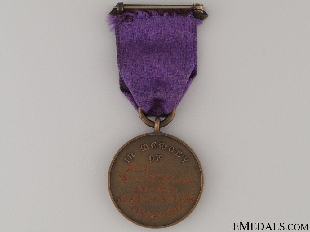 WWI CEF Lindsay Honors Her Fallen Medal - 38th Batt.