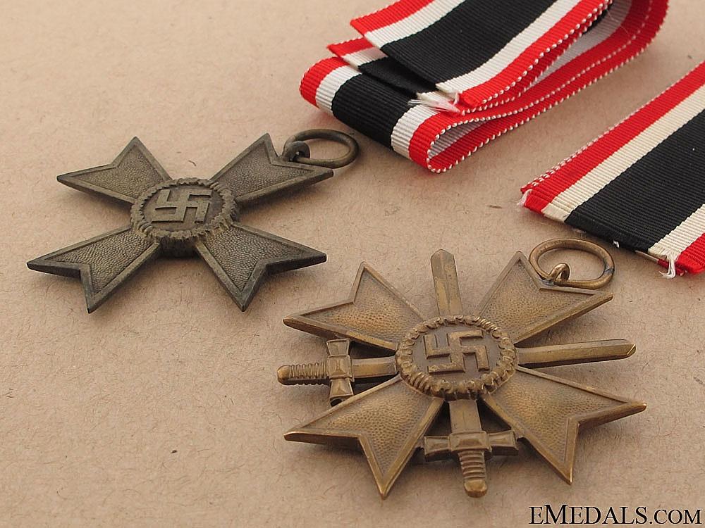 Pair of War Merit Crosses