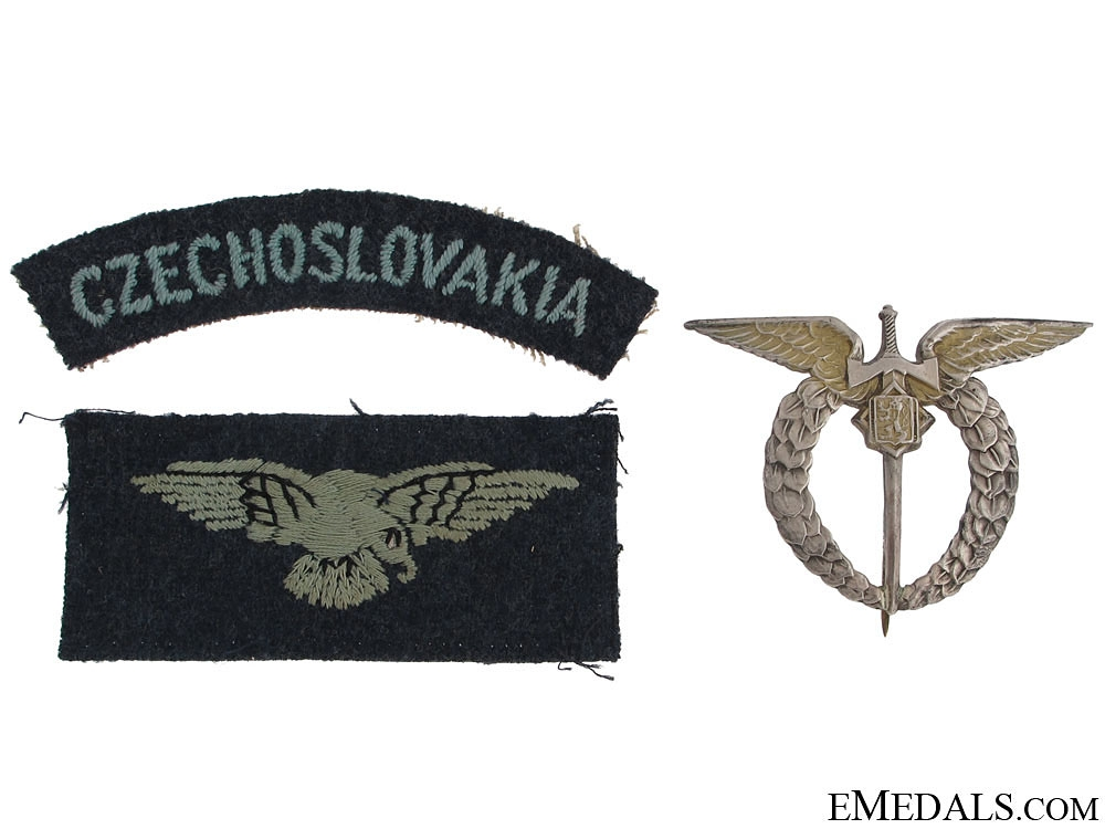 An Emotive Battle of Britain Group to F/O Machacek CAF