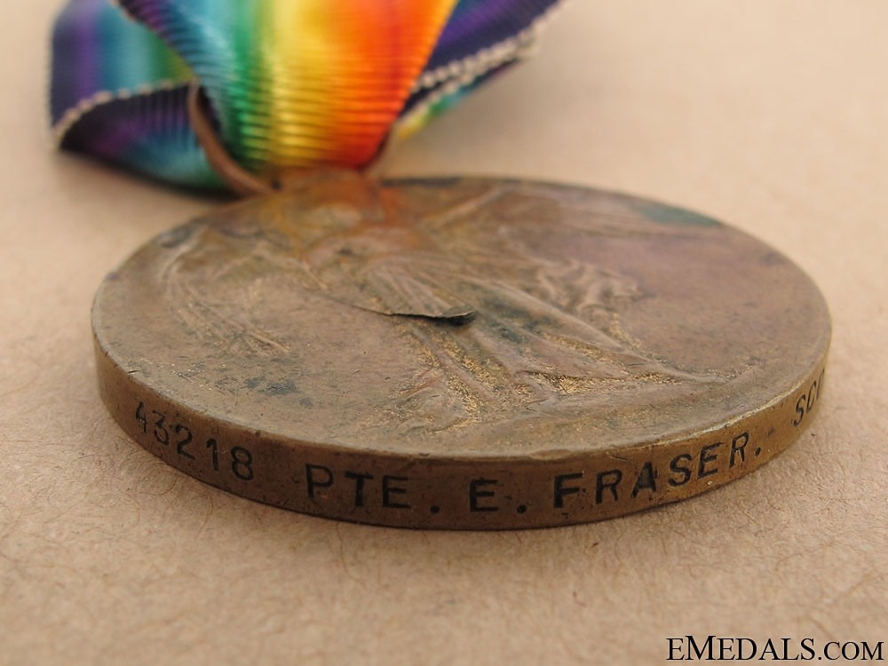 WWI Victory Medal - The Cameronians