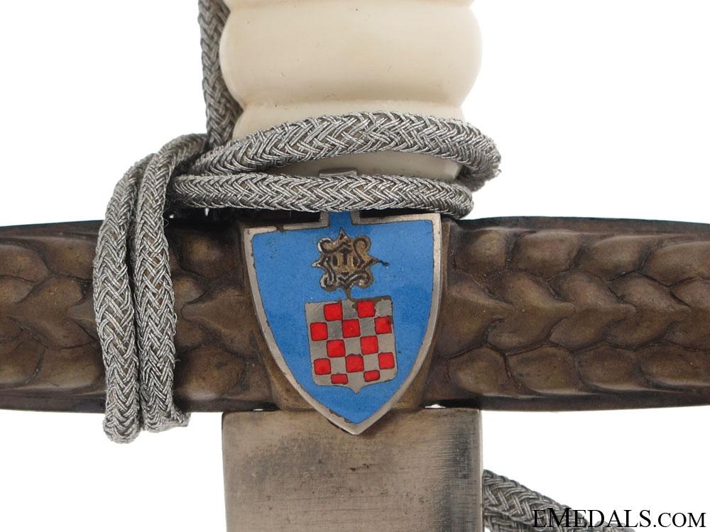 Croatian National Labor Service Dagger M-1944 – Mint