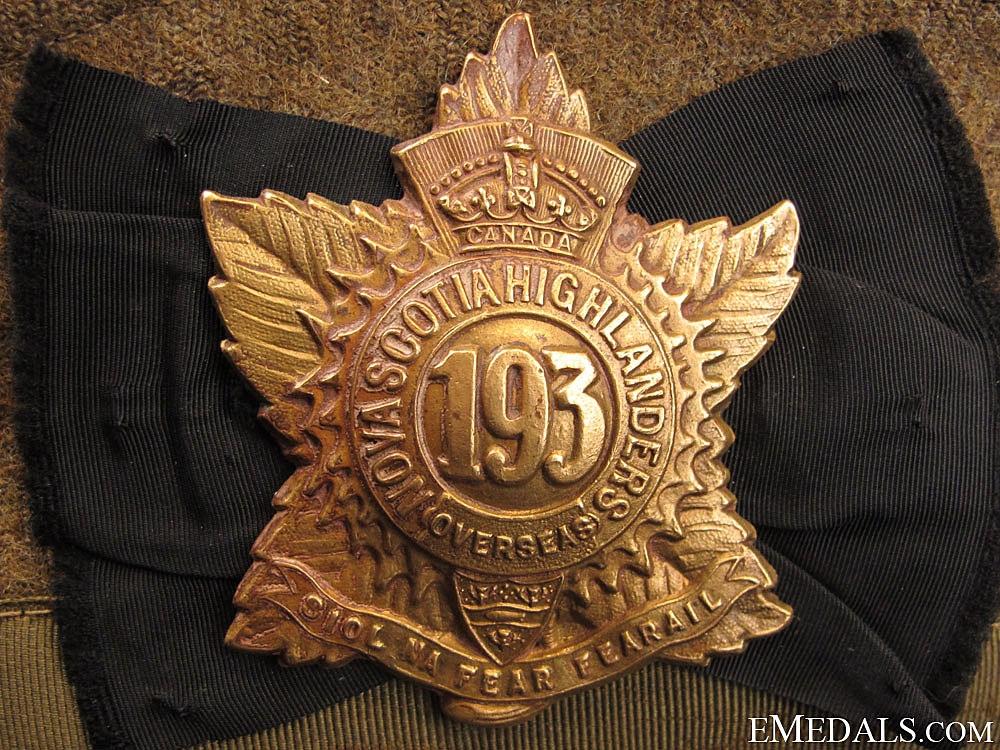 A 193rd Battalion Khaki Glengarry
