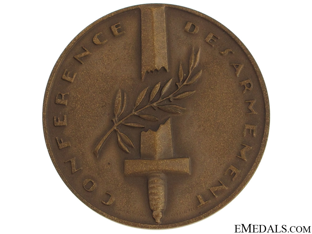 Medal for Swiss Disarmament Conference, Geneva 1932