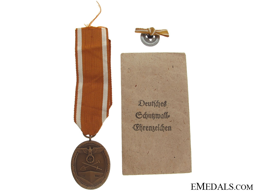 West Wall Medal and Award Document