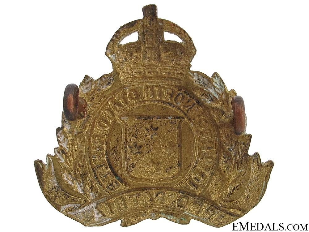WWI NZ 10th North Otago Rifles Cap Badge