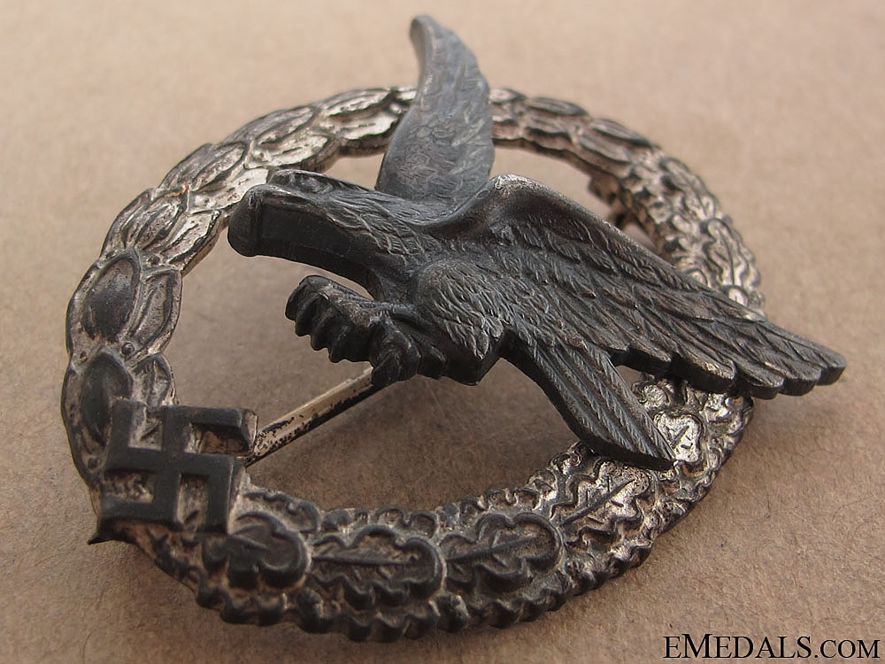 A Cased Air Gunner Badge by Assmann