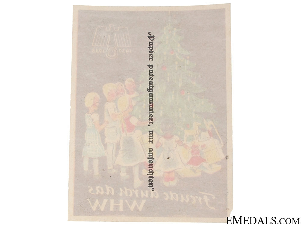 Winterhilfswerk (WHW) Achieving Joy Handout, 1937-1938