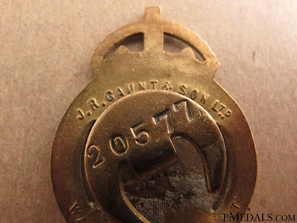 WWI War Munition Volunteer Badge, 1916-1918