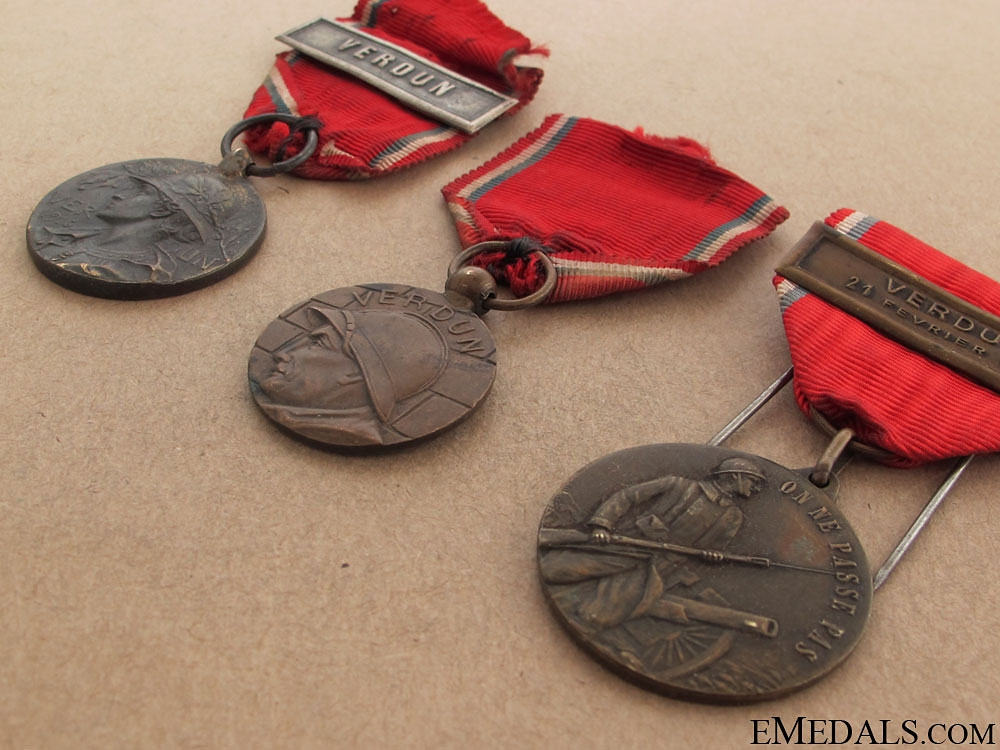 Three Verdun Medals, 1916