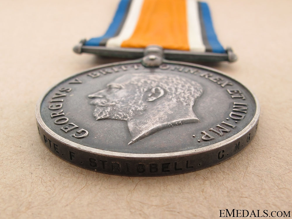 WWI British War Medal - C.M.G.B. & RCMP