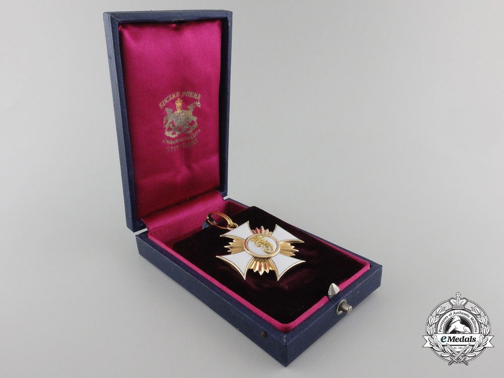 A Wurttemberg Order of Friedrich in Gold; Knight First Class, 1856-1918;