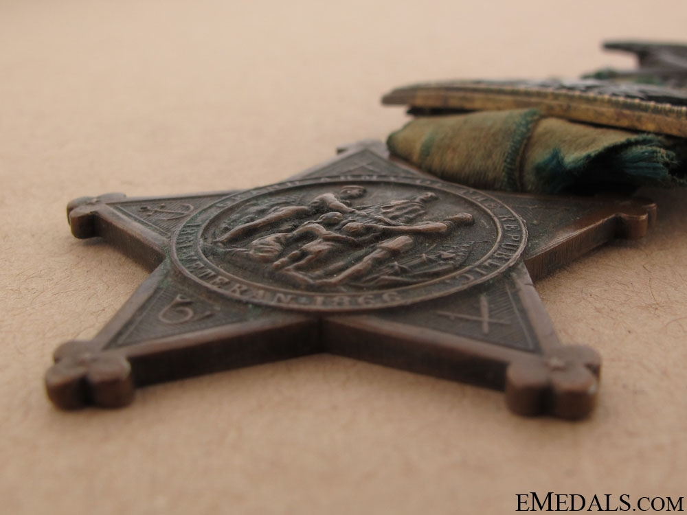 Union Grand Army of the Republic Veteran's Medal & Captain Bar