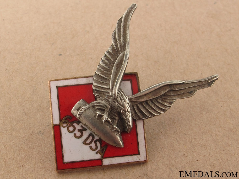 Rare Polish 663 Squadron RAF Badge