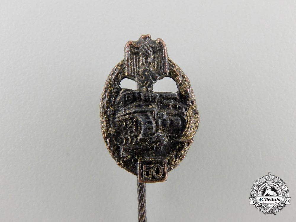 """A Rare Miniature Special Grade """"50"""" Tank Badge"""