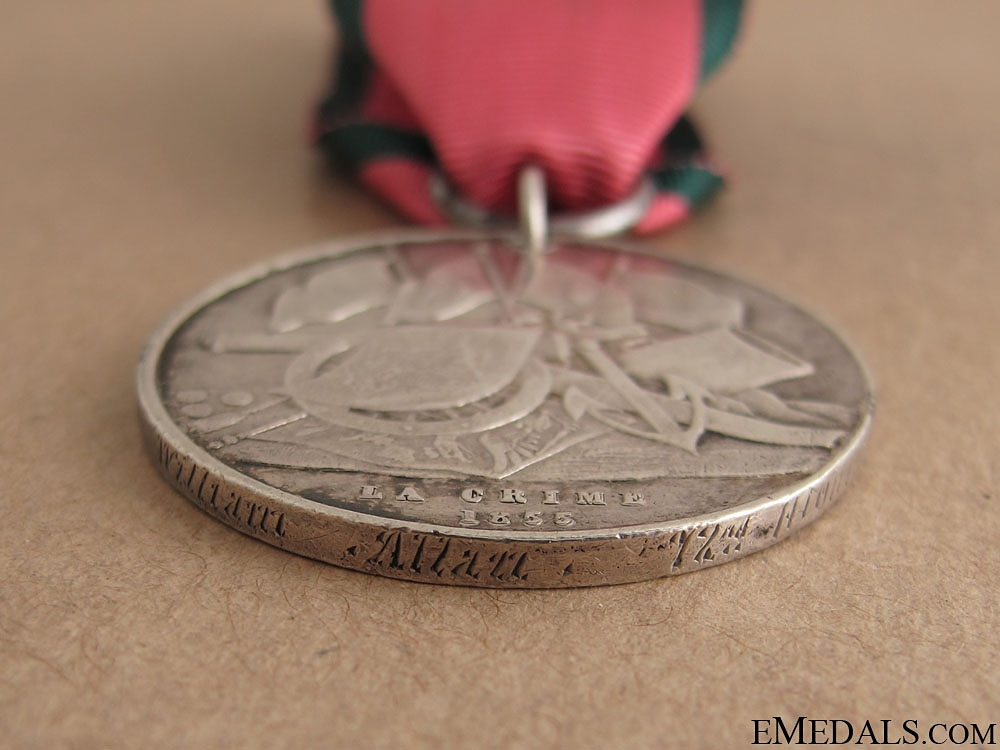 Turkish Crimea Medal - 72nd Highlanders