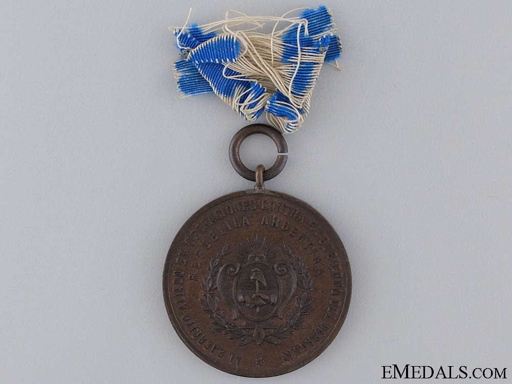 A Argentinian Campaign Medal  for Allies in Paraguayan War