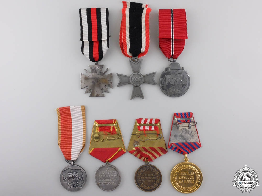 Seven European Medals and Awards
