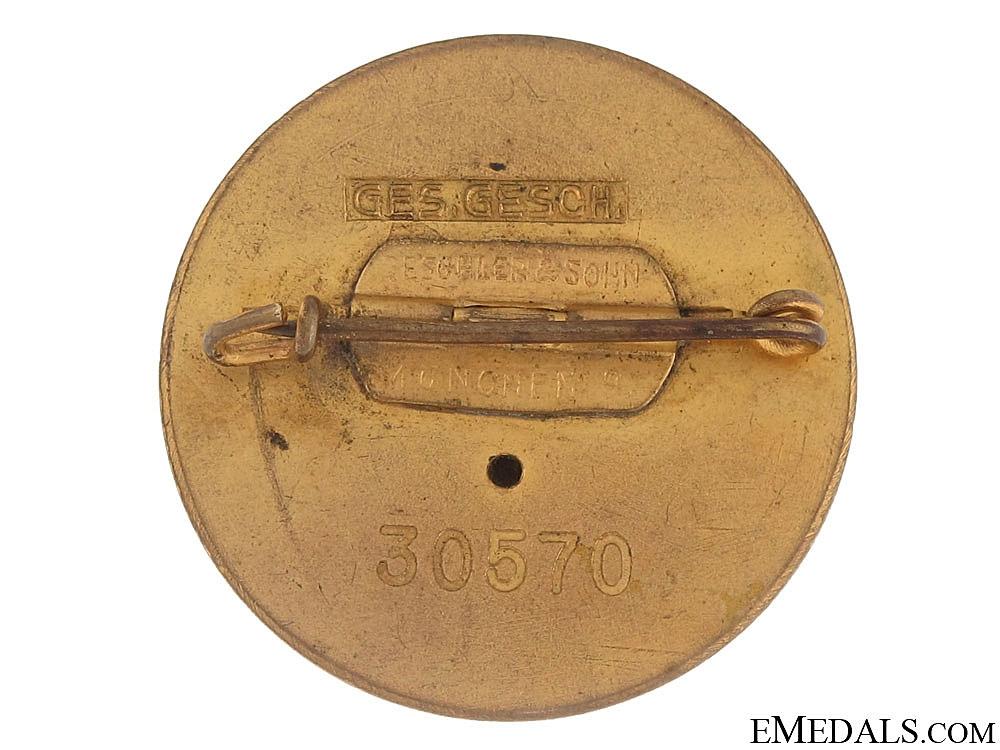 Golden Party Badge – Large Version, Deschler