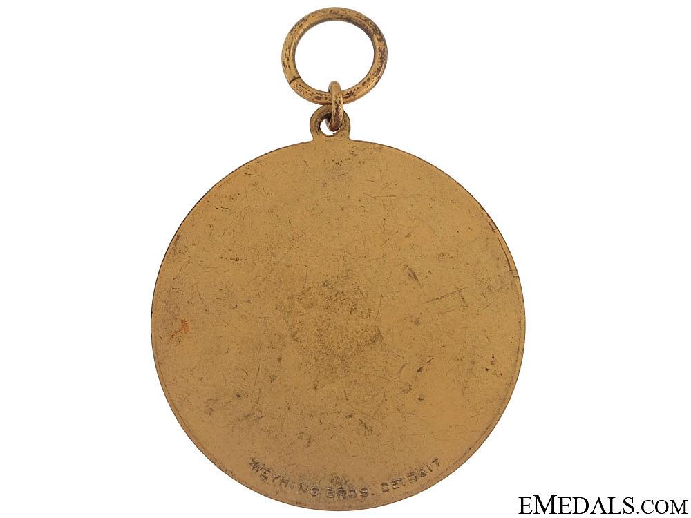 Kreis Turnfest Medal - Detroit 1929