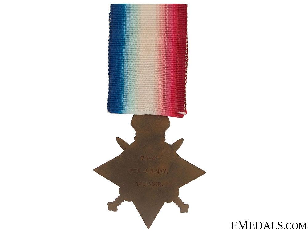 WWI 1914 Star - Royal Linclohnshire Regiment