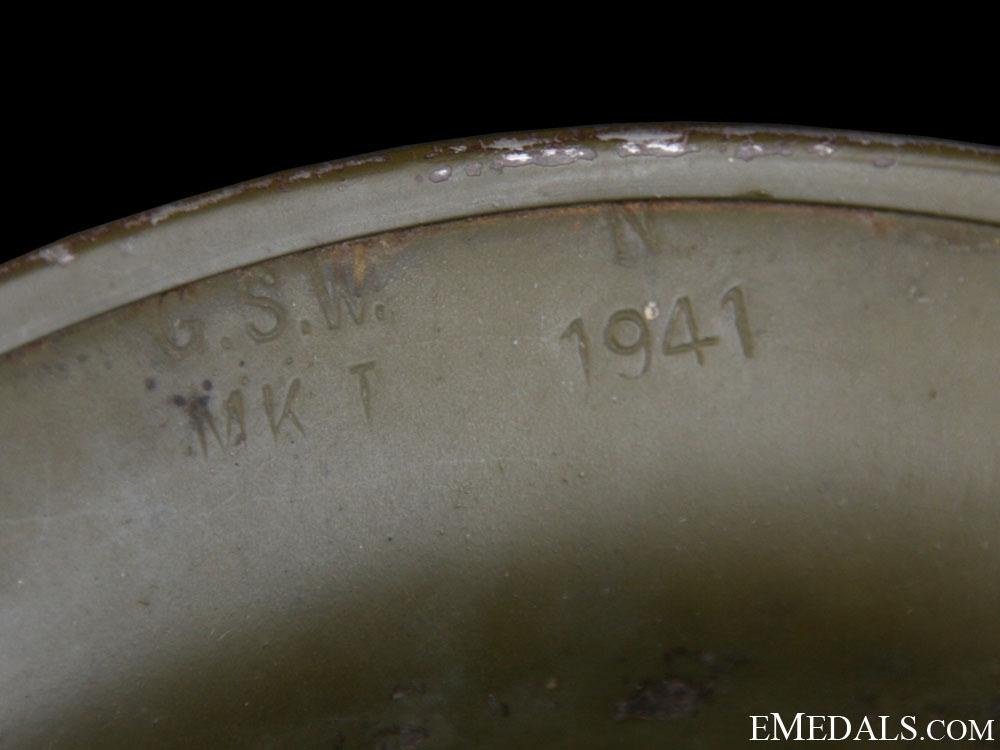 WWII Mark I Air Raid Precautionary (ARP) Warden's Helmet