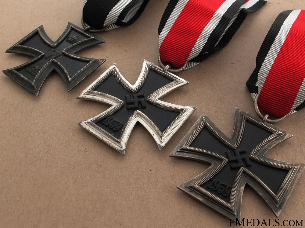 Three Iron Crosses 2nd. class