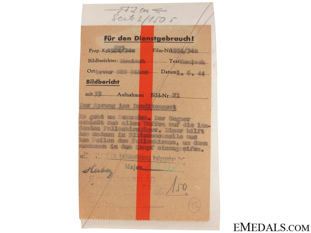 Superb Fallschirmjäger Photo – Drvar, Bihac 1944