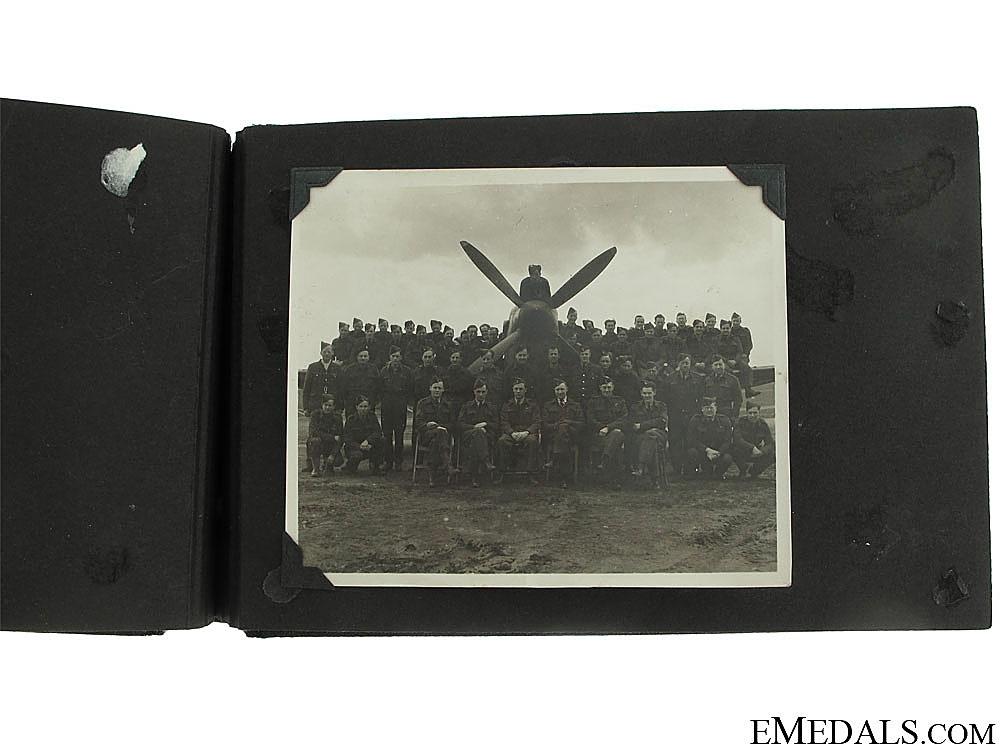 WWII RCAF 417th Squadron Spitfire Pilot's Album