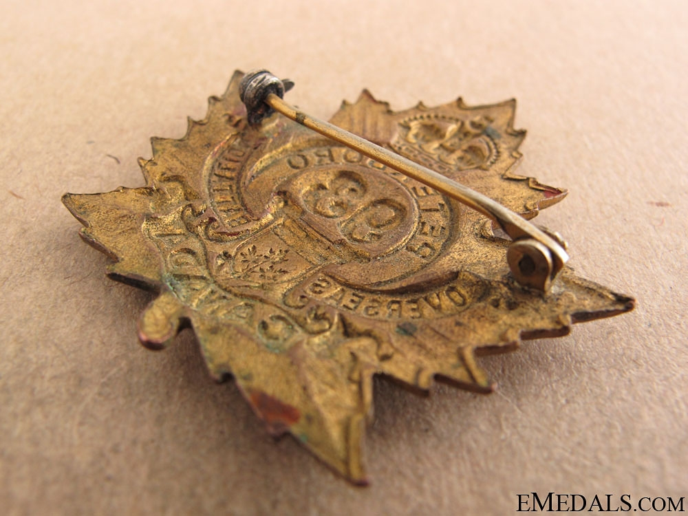 "WWI 93rd Infantry Battalion ""Peterborough Battalion"" Cap Badge"
