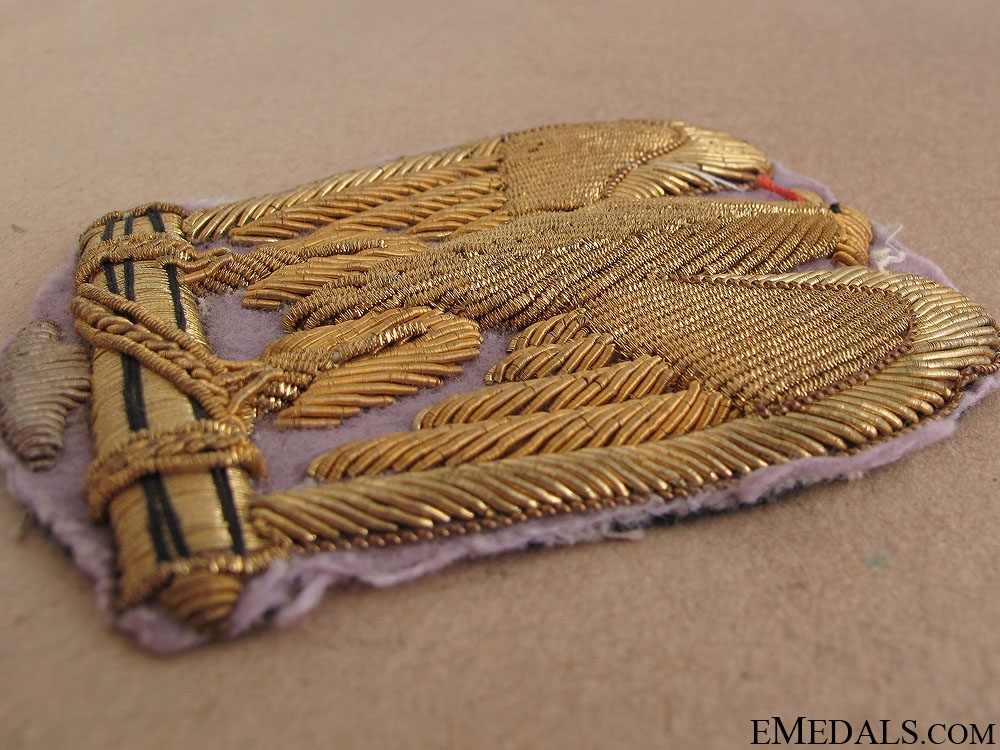 WWII Fascist Gold Embroidered Eagle