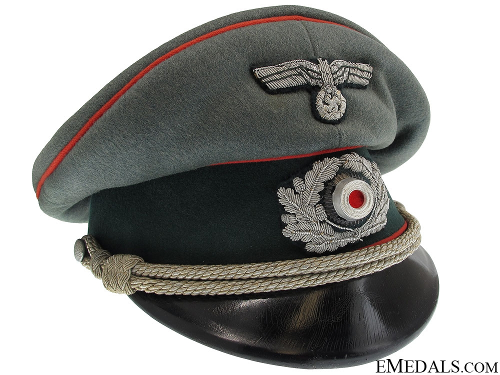 Army Artillery officer's Visor Cap by Lotzen