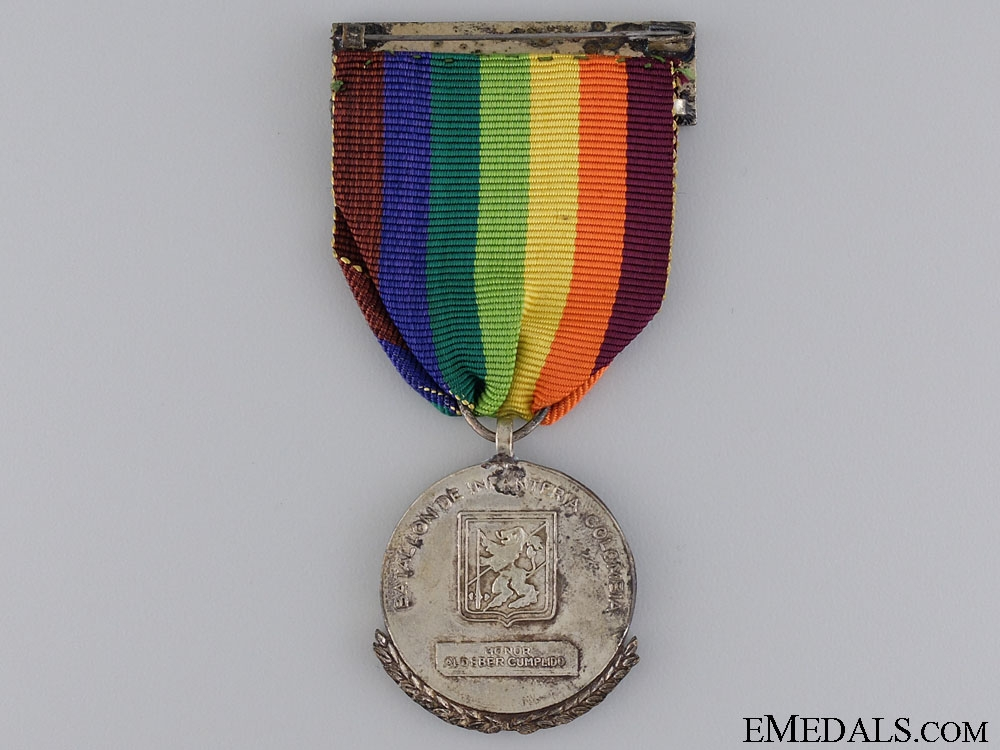 A Korean War Colombian Battalion of Infantry Medal