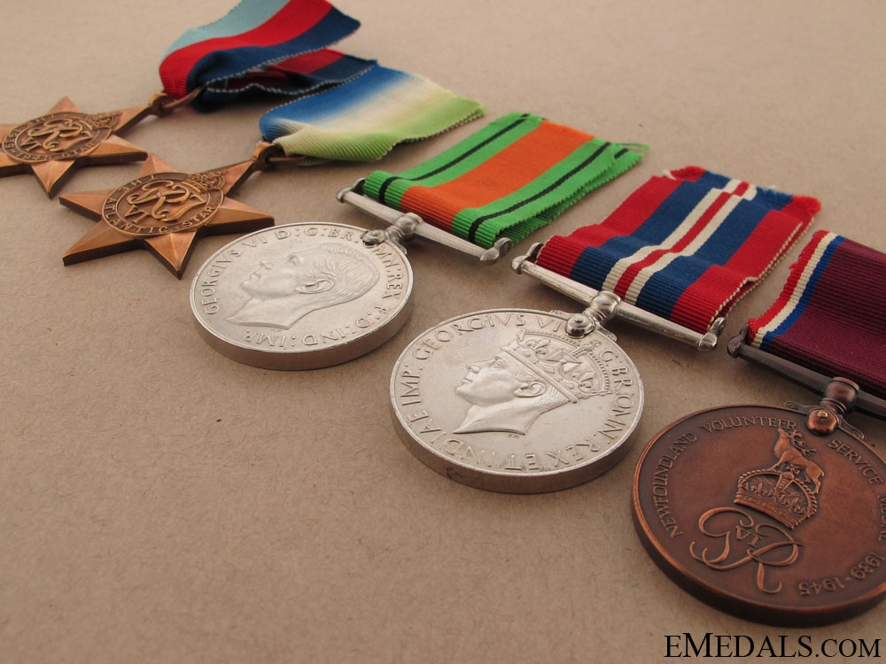 A Rare Second War Newfoundland Service Group to Percy Tremblett