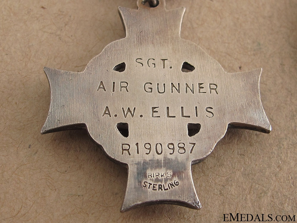 WWII Memorial Group to Air Gunner A.W.Ellis RCAF