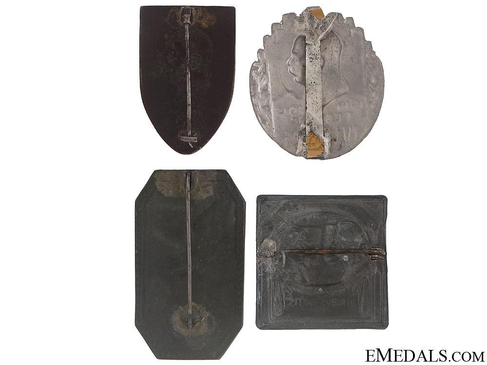 Four WWI Austrian Badges