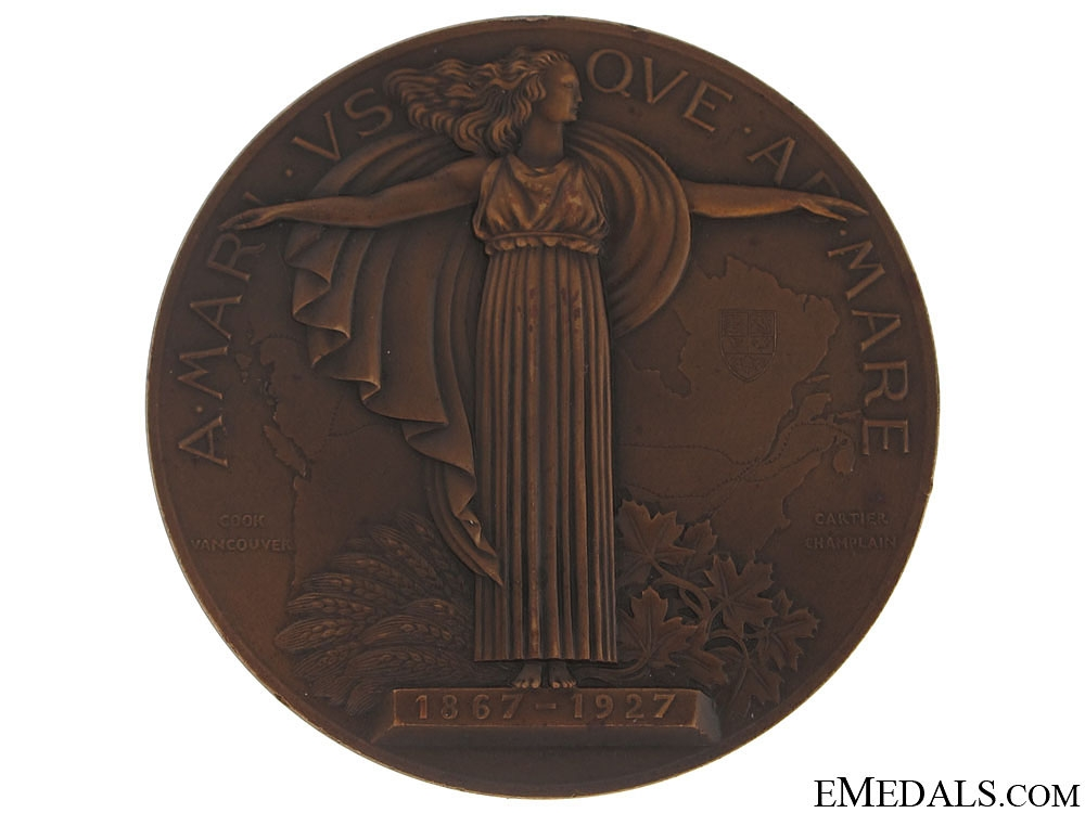 60th Anniversary of Confederation Commemorative Table Medal
