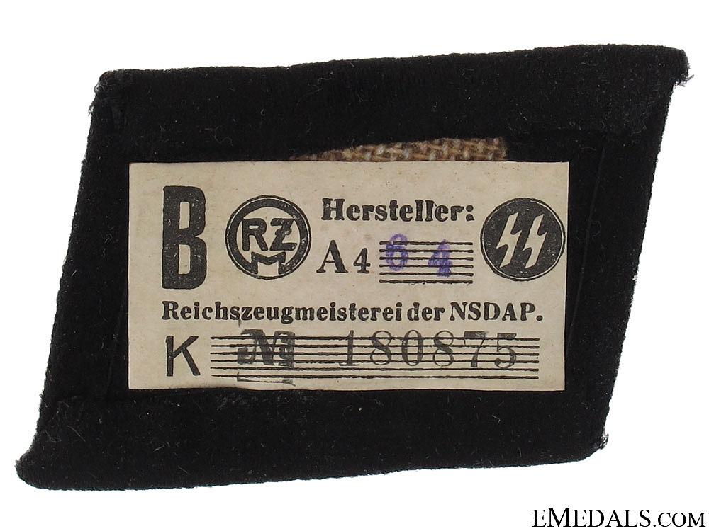 SS EM/NCOs Totenkopf Collar Tab - c.1939-42