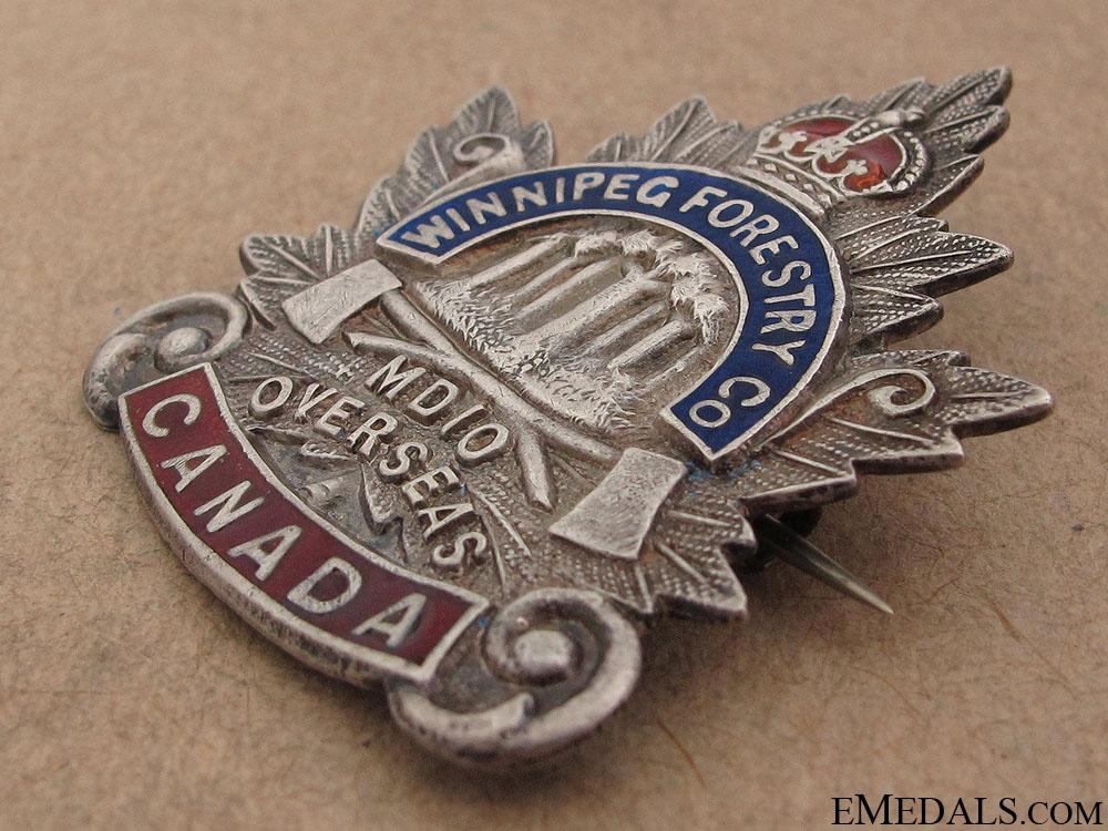 WWI Manitoba Forestry Company No.10 Pin CEF
