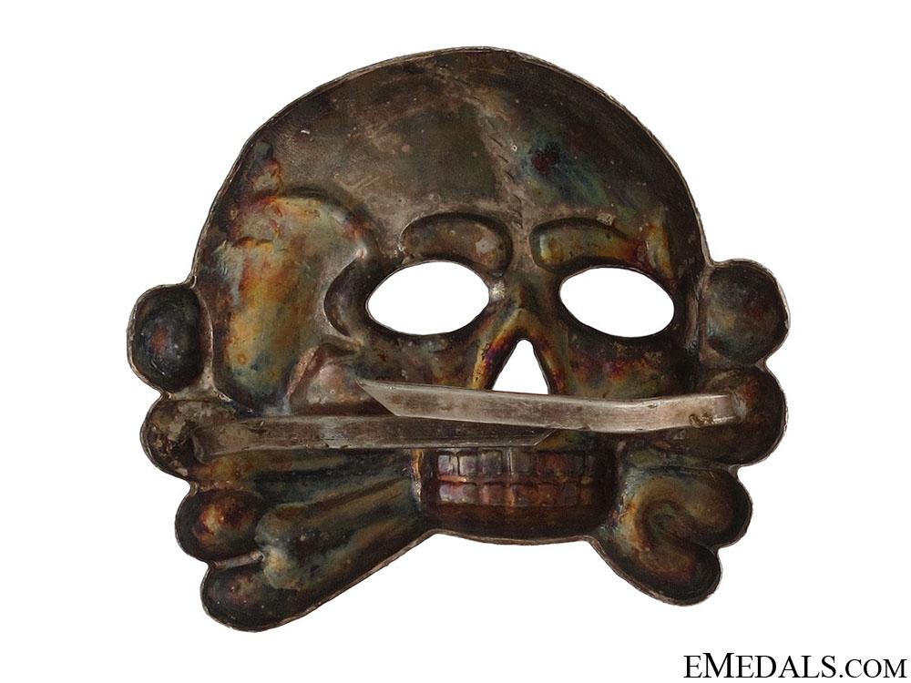 SS Skull 1st Model for Visor Cap