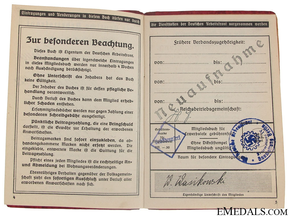 Three Third Reich ID Booklets