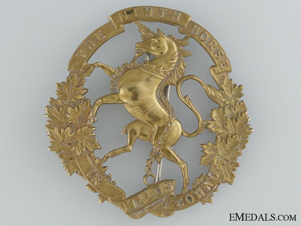 9th Mississauga Horse Militia Helmet Badge