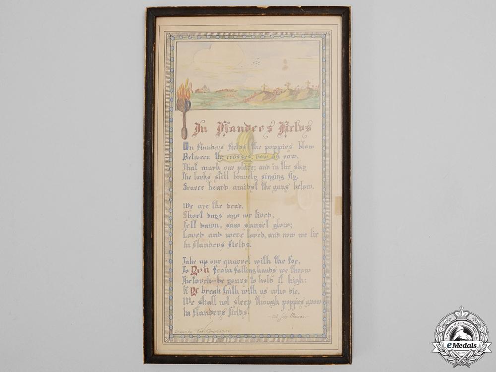"A First War ""In Flanders Fields"" Framed Artwork"