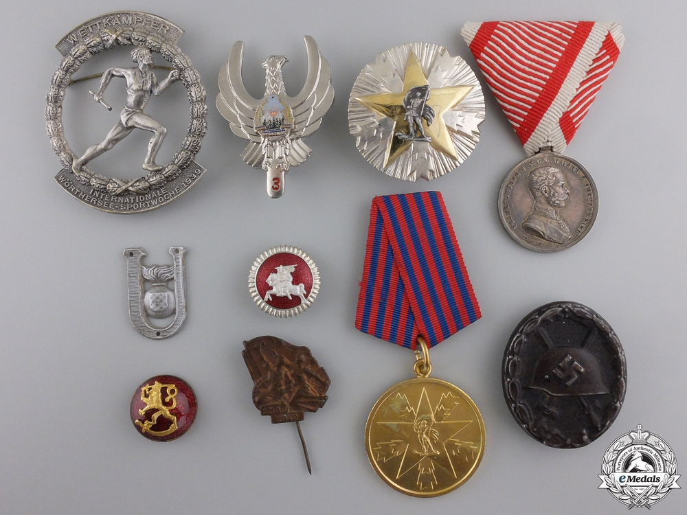 A Lot of 10 European Badges & Awards