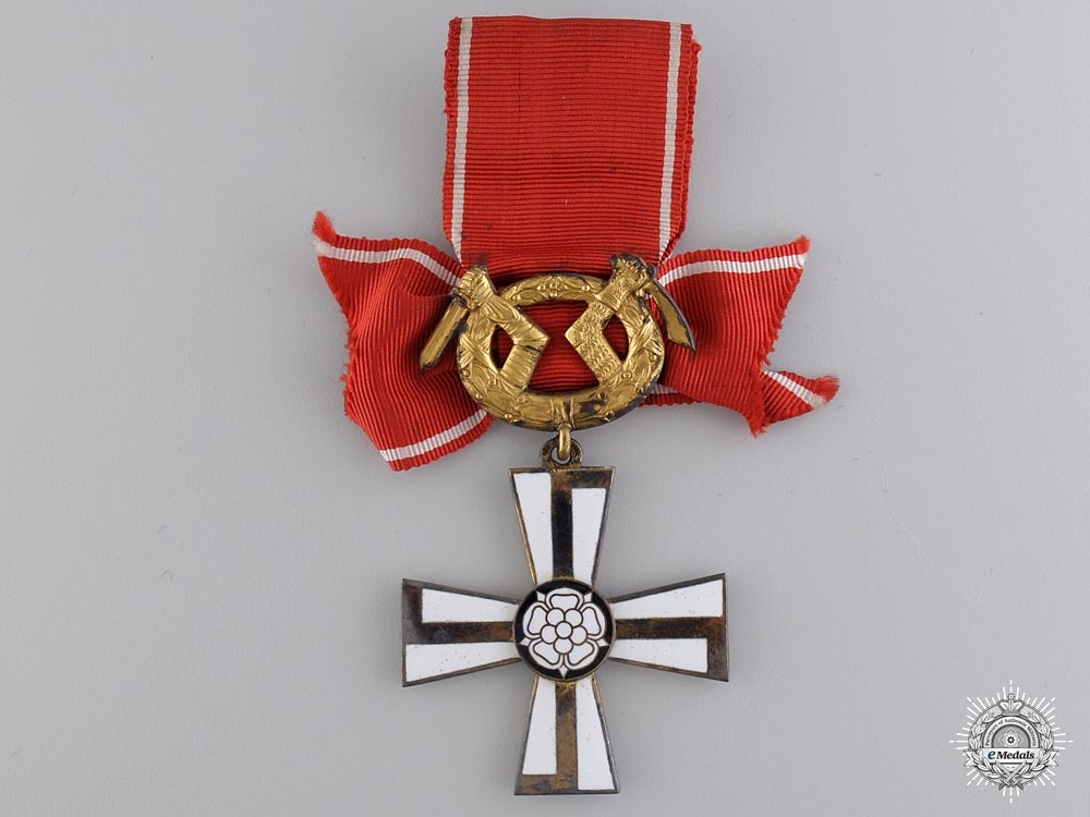 Finland, Republic. An Order of the Cross of Liberty, Military Division 2nd Class