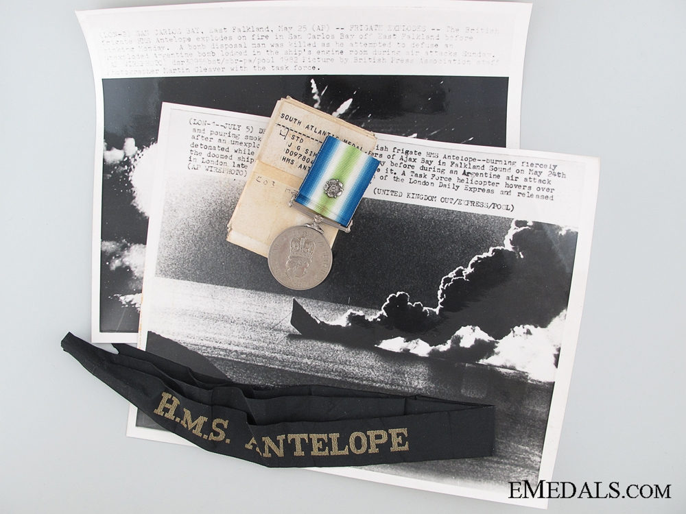 A South Atlantic Medal to HMS Antelope