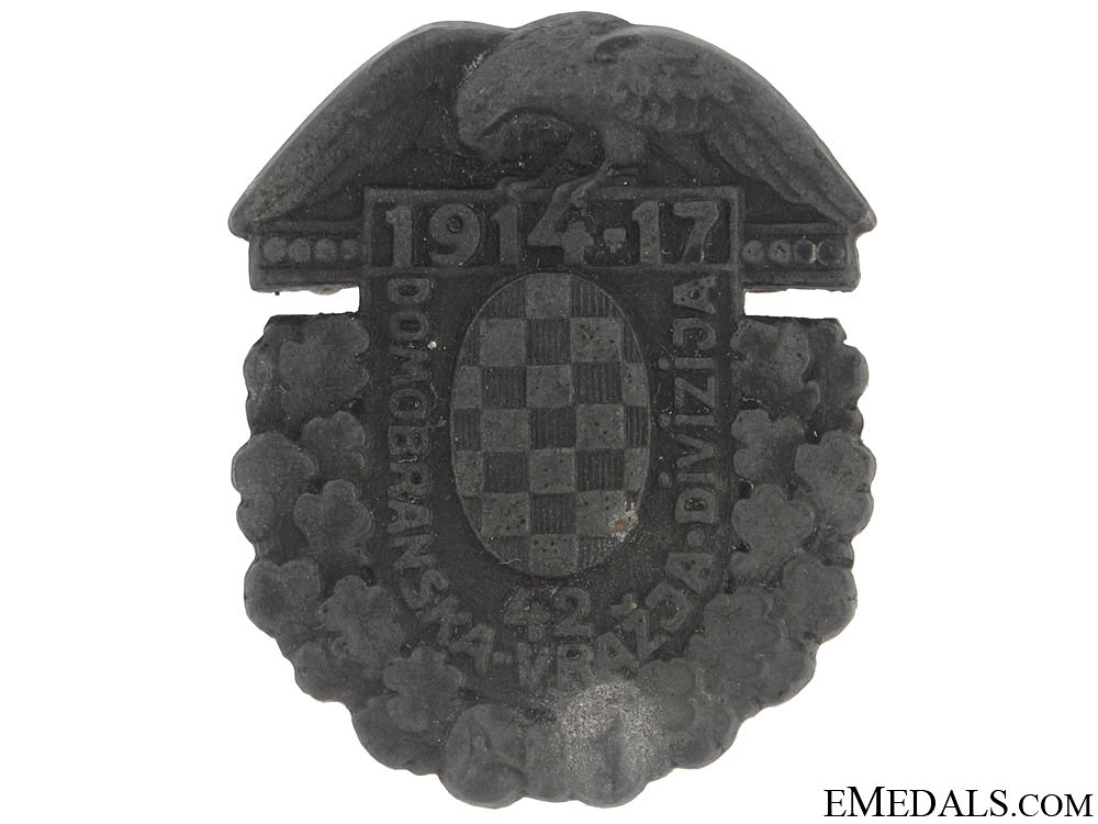 "Badge of the Croatian ""Devil's Division"" WWI"
