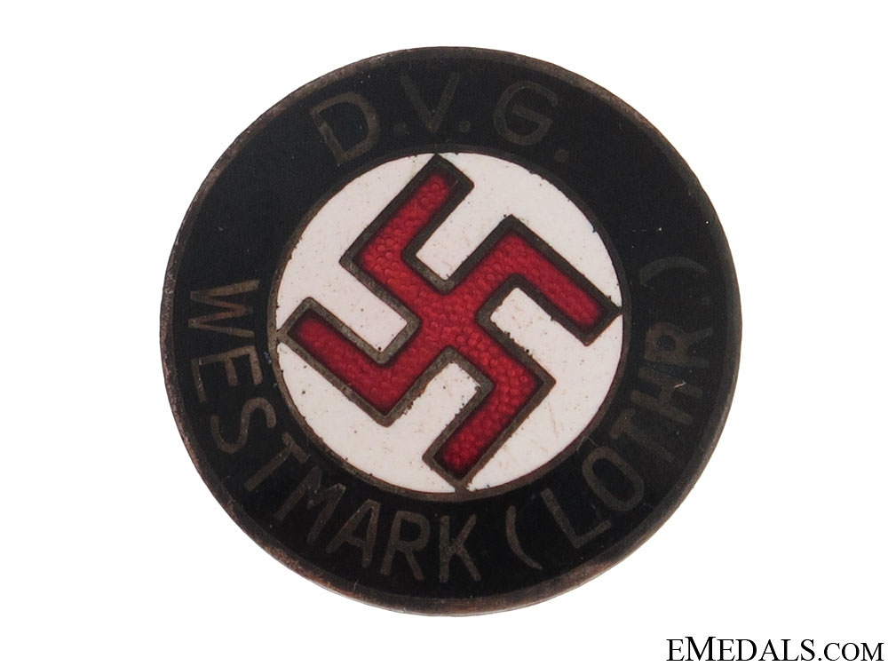 """DVG""¢� WESTMARK"" NSDAP Membership Badge"