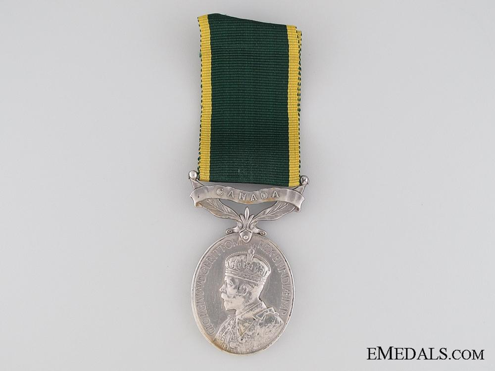 Canadian Efficiency Medal, Regimental Quartermaster Sergeant (Warrant Officer 2nd Class) A.J. Hayhurst M.M.