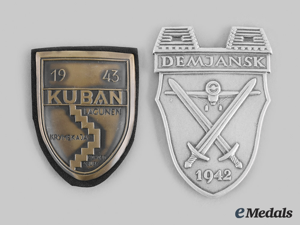 Germany, Federal Republic. A Pair of Campaign Shields, 1957 Version