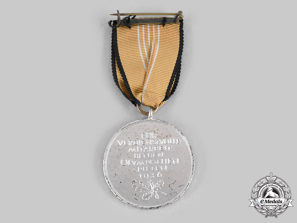 Germany, Third Reich. A 1936 Berlin Summer Olympic Games Medal, with Case